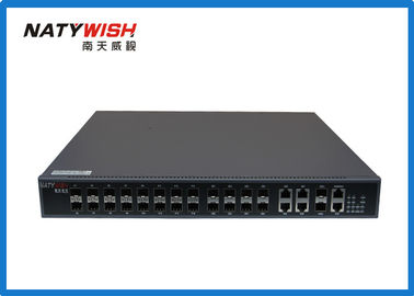 FTTH Network Solution EPON OLT , Portable Space Saving OLT GEPON 442*44*315mm