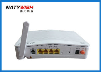 White 1 VOIP GPON ONU Fiber To The Home Router Support Port Speed Limitation