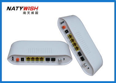 Light Weight Dual Fiber GPON ONU Router , Hisilicon Chipset FTTH Modem Router