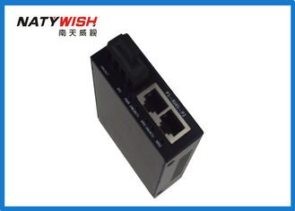 Black Color Fiber RJ45 Media Converter Compact Size With Auto Negotiation Function