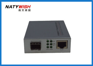 Stable Performance Fiber Media Converter , 10 / 100M SFP Media Converter With One SFP GE Slot