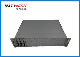 "16 Slots 19"" Fiber Media Converter , Card Module Type Industrial Grade Media Converter"