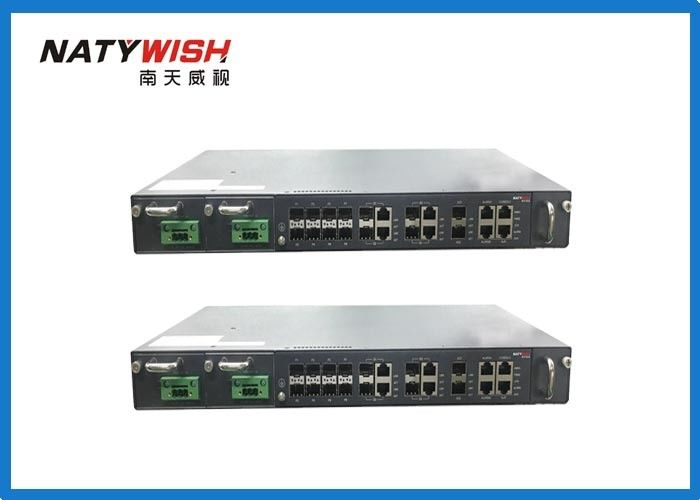 1U 19 Inch 8 Port GPON OLT Support Dual Power Supply With